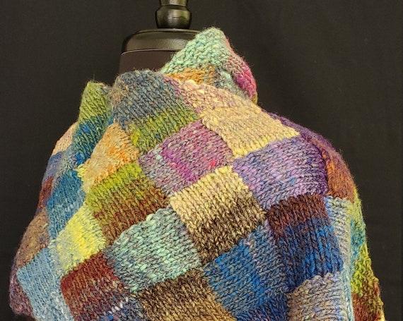 Shawl - Colors of Skye - Entrelac - Wool