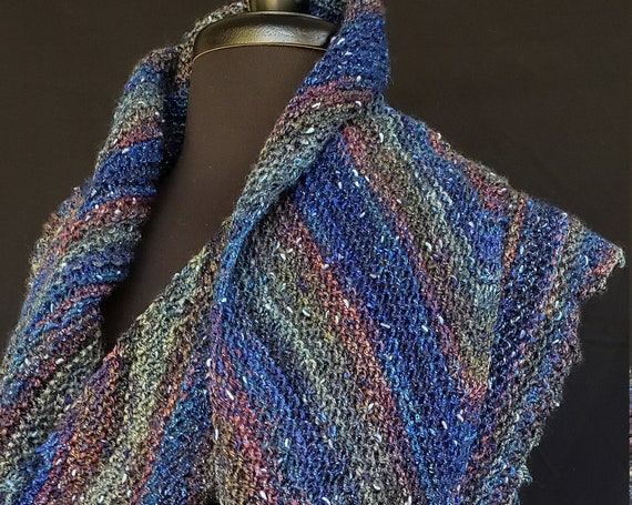 Shawl - Windswept  -  Fairy Pools - Wool and cotton blend