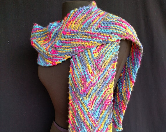 Scarf -Coloring Box - Celtic Braid  - Bulky Superwash Wool