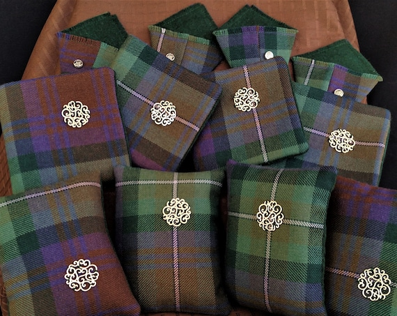 Pin, Needle and Scissor Keepers Set - Isle of Skye Tartan