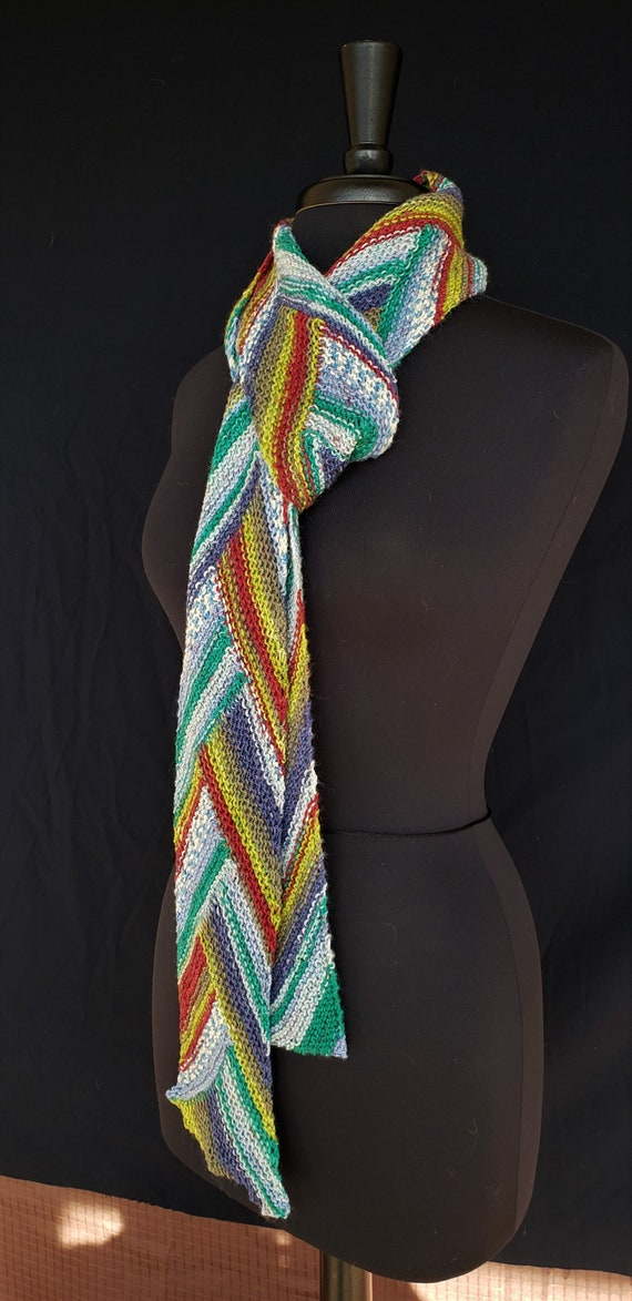 Scarf - Summer Rains - Celtic Braid