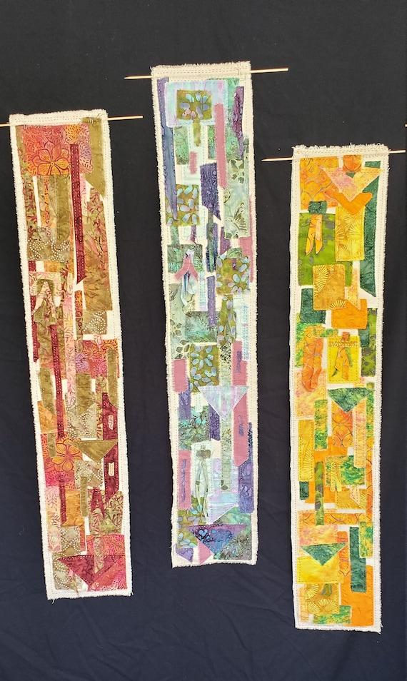 Wall Hanging - The Garden Series - Sashiko Boro Batik