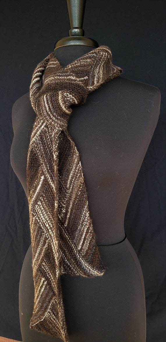 Scarf - Winter Browns - Celtic Braid