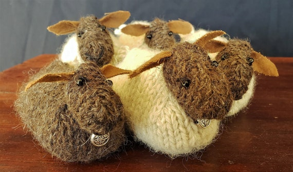 Pincushion - Skye Flocks  - Handknitted Sheep Pincushions