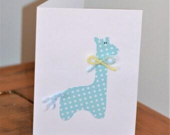 Blue Giraffe Card