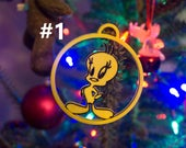 Two Color Designer Christmas Ornament 3d Printed