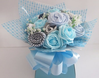 Medium Baby Clothes Bouquet Gift, Baby Shower Gift, New Mum Gift
