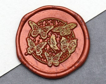 Butterflies Wax Seal Stamp Kit ,Personalized Wedding  wax seal stamp,Gift for Book Lover, Gift for her
