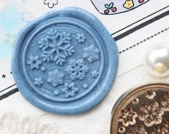 Snowflake Wax Seal Stamp/Retro Wax Seal Stamp/ Vintage Wedding wax seal stamp/ Invitation wedding wax seal kit