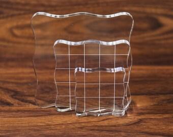 Papermania Pack de 2 Acrylique Transparent Blocs pour le Montage