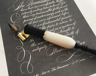 oblique pen  Oblique calligraphy pen   Etsy