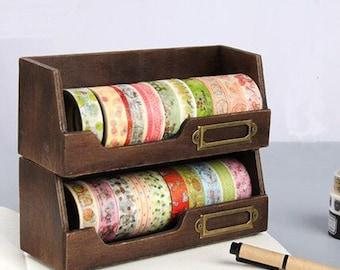 Washi Tape Box Organizer Storage Masking Desktop Tape Diy Sticker Roll Holder