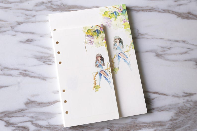cute flowers girl planner inserts  filofax personal inserts blank filofax a5 insertsPRINTED garden Kawaii  inserts