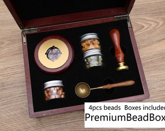 Custom Wax Seal Stamp Beads  Kit Personalized Wedding  wax seal stamp Initials Wax Seal Stamp