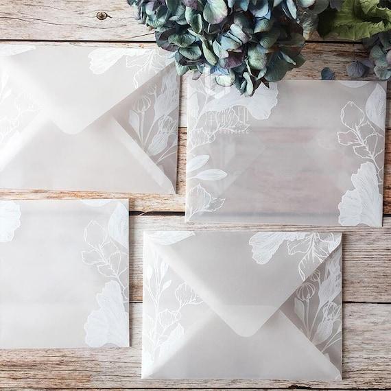 Square Transparent  Envelopes  white clear envelopesClear Envelopes  Glassine Envelopesgift packing