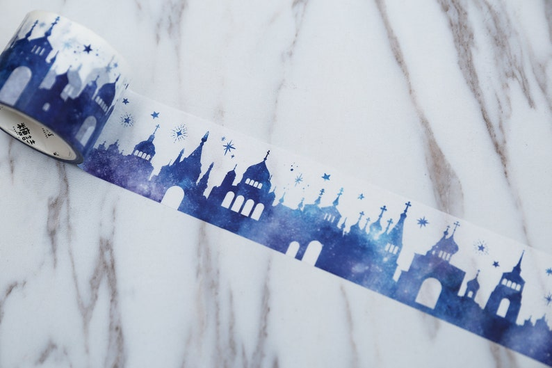 Castle Washi Tapes  Romantic house TapeBuilding case  Washi TapesJapanese washi TapeDecorative Stickers