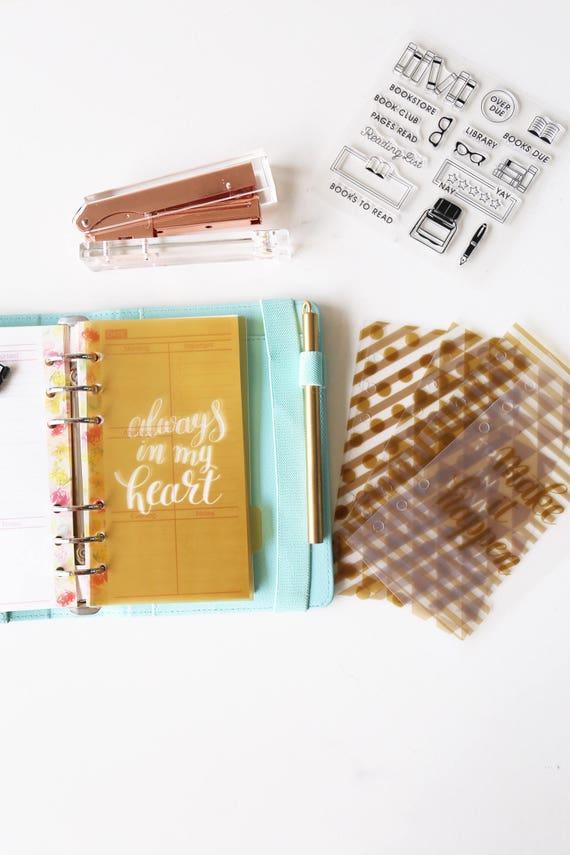 Always in my heart Planner Dividers/Planner dashboard/A5 dividers /Personal dividers /Planner divider set /gold dividers