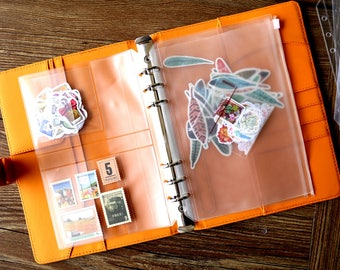 A5/A6 Zipper Pouch/PVC Pouch/stickers storage/insert/Card Organizer/ Zippered Pocket/Card organizer/Card holder/Journal Accessories