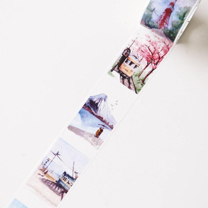 40mm x 8m Japan  Building Landmarks Washi Tapes city Washi TapeDecorative Stickers  Masking tape japanese washi tapePlanner tapeOT070