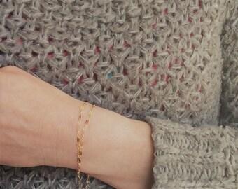 Dainty Gold  bracelet-  Gold Filled Dainty Bracelet, Layering Bracelet, Minimalist Jewelry, stacking bracelet, delicate bracelet, gift  her