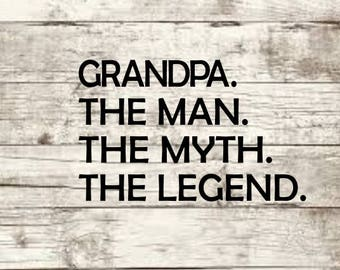 Grandpa the man myth legend sign father gift etsy grandpa the man the myth svg new publicscrutiny Gallery