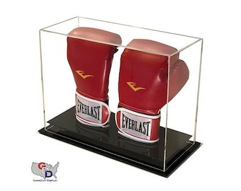 f91a8a449c5e03 Acrylic Desk or Counter Top Vertical Double Boxing Glove Display Case by  GameDay Display