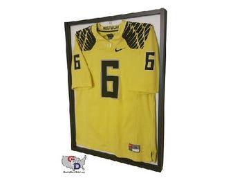 47ec745c17b Jersey Display Case Frame Standard Size White Backing Wall Mount Football  Baseball Basketball Hockey by GameDay Display