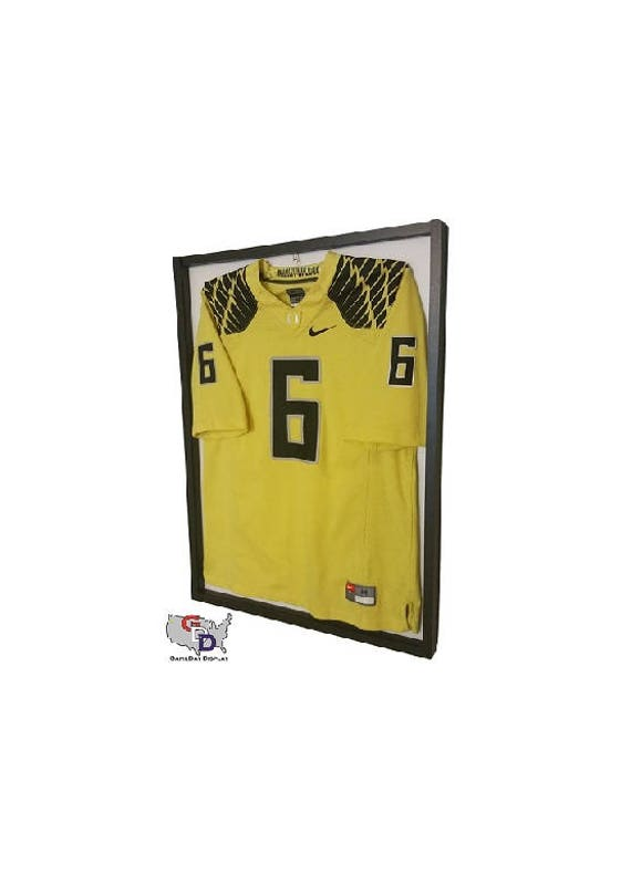 Jersey Display Case Frame Standard Size White Backing Wall