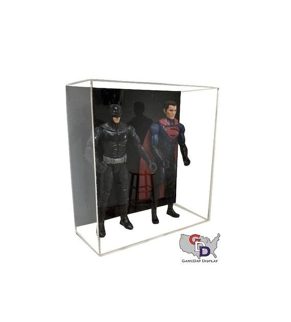 "Acrylic Wall Mount Triple Action Figure Display Case 1:6 1//6 Scale 12/"""