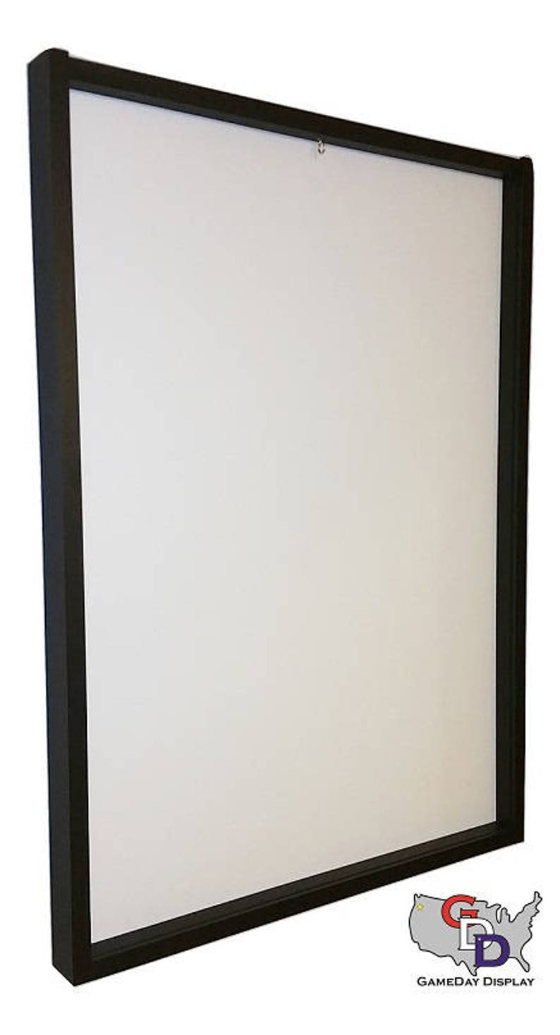 Lot of 4 Jersey Display Case Frame Standard Size White Backing Wall Mount Football Baseball Basketball Hockey by GameDay Display
