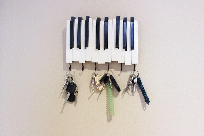 Piano Keys with Hooks Key Holder Hanger Jewelry Holder Synthetic Ivory