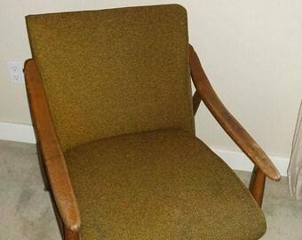 Vintage Danish Modern Upholstered Lounge Chair