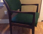 Mid Century Modern Jens Risom style Walnut Arm Chair office chair side chair- Excellent condition