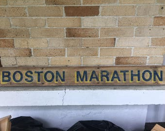 Boston Marathon Sign