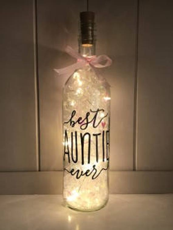 Best Auntie LED Light Up Bottle, Gift For Her, Gifts For Aunties, Aunty  Gift, Christmas Gift, Love Quotes, Birthday Gift,