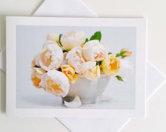 Champagne Roses - fine art photography greeting card