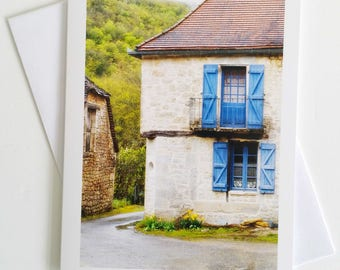French Farmhouse - French fine art photography greeting card