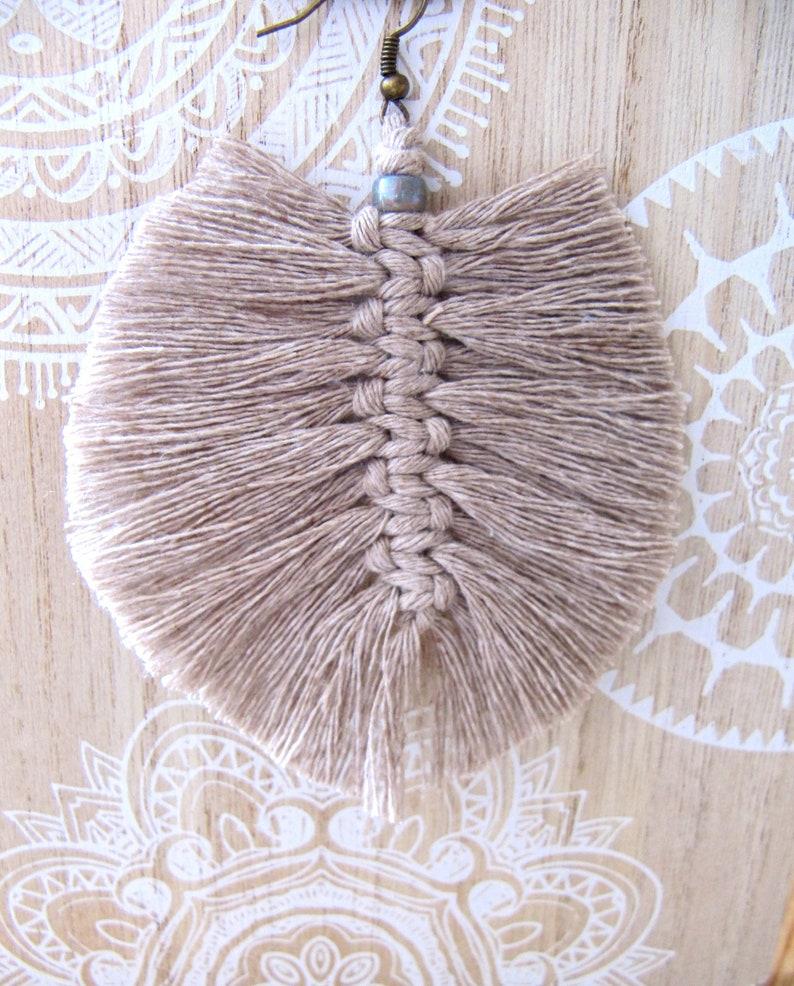 Feather, Boho Earrings Cotton Earrings Macrame Earrings Feather Summer Jewelry Feather Earrings Boho Jewelry Macrame Jewelry