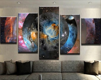 Space Abstract Canvas Set | Abstract Wall Decor | Abstract Canvas Set | Space Wall Decor | Gift for him | Gift for her | Space Canvas Set