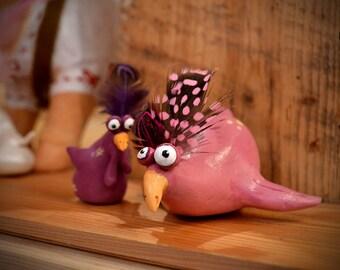 chicken clay* Huhn*chicken art* chicken ornament*chicken sculptur*roomdekoration