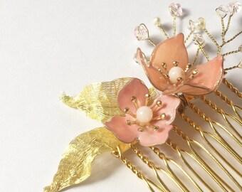 Bouvardia bridal headpiece | hair pin