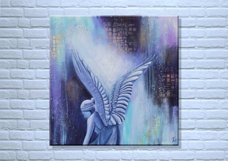 Original Angel Painting Abstract Angel Painting Angel Acryl image 0