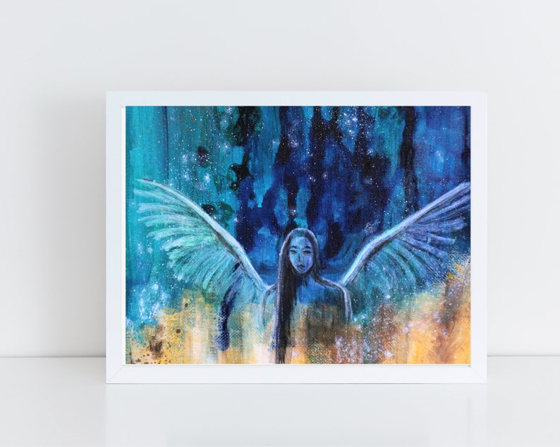 Abstract Angel Poster Angel Print Angel Wall Art Angel image 0
