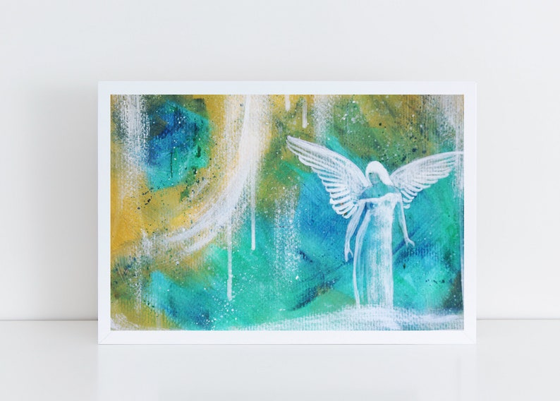 Abstract Angel Art Original Painting Angel Acryl Angel Wall image 0