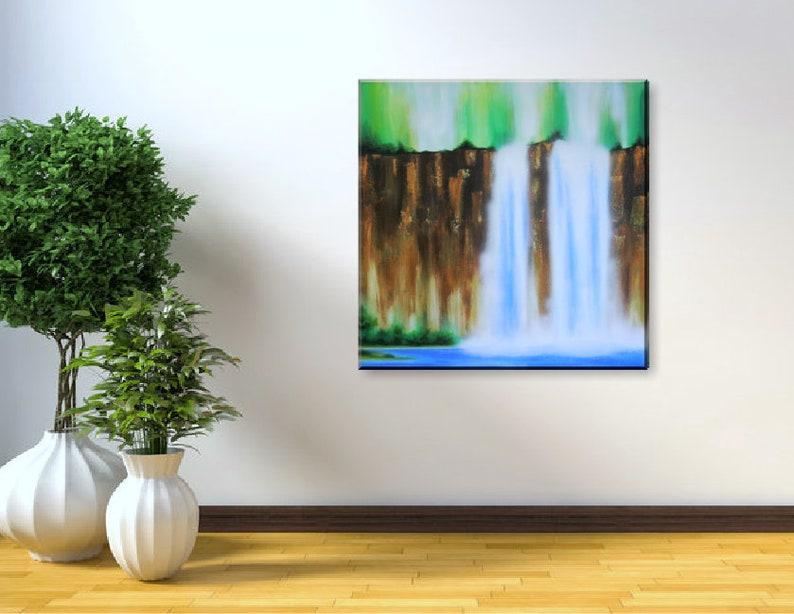 Original Waterfall Landscape Painting Landscape Acrylic image 0