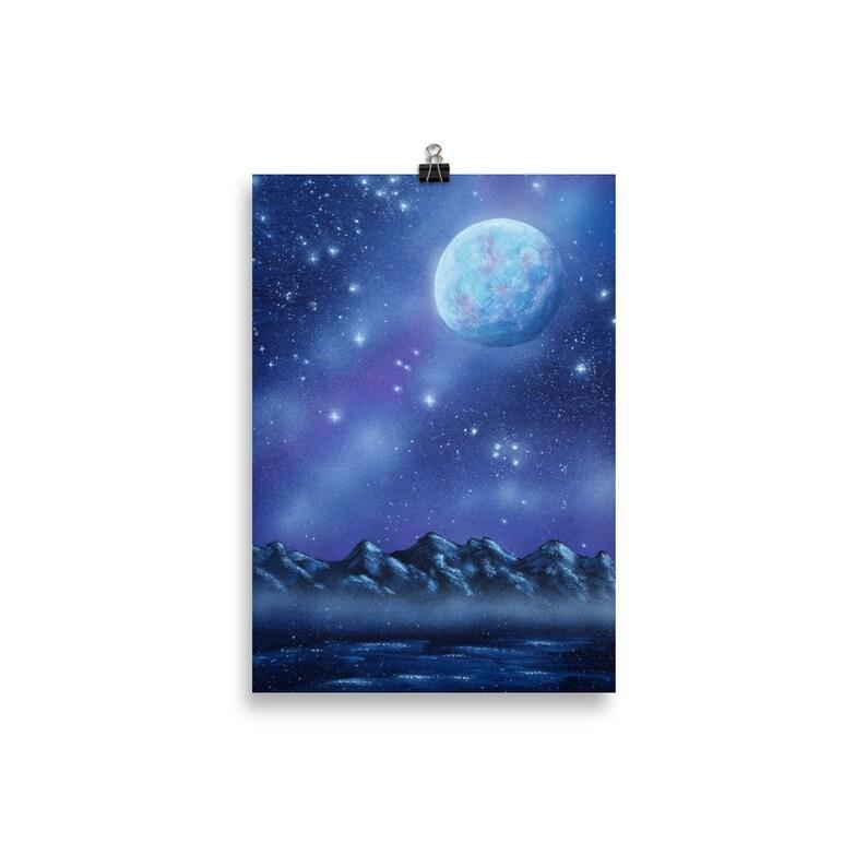 Violet Sky Art Print Fantasy World Fantasy Painting 30×40 cm