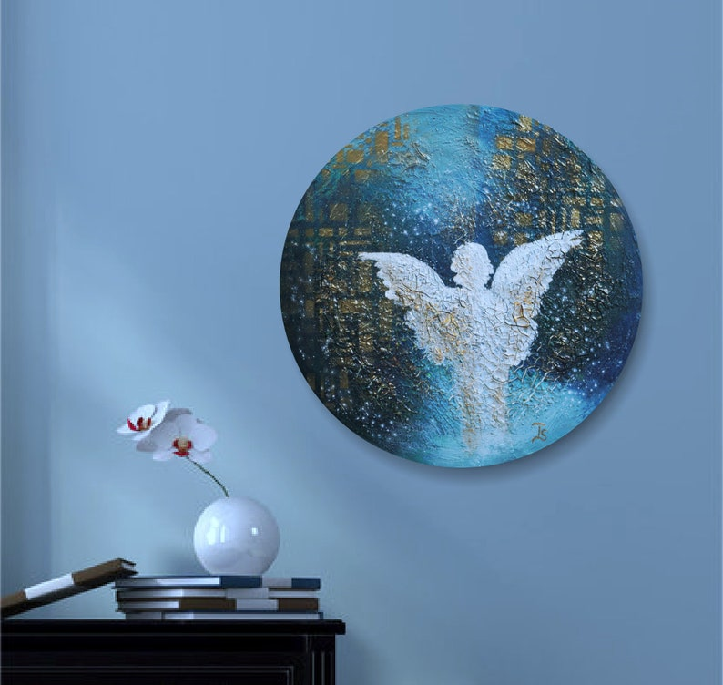 Original Angel Painting Angel Wings Painting Angel Acryl image 0