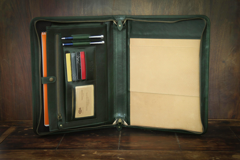 iPad folder Leather notepad folio MacBook pro case Business portfolio Leather portfolio Laptop bag Executive organizer