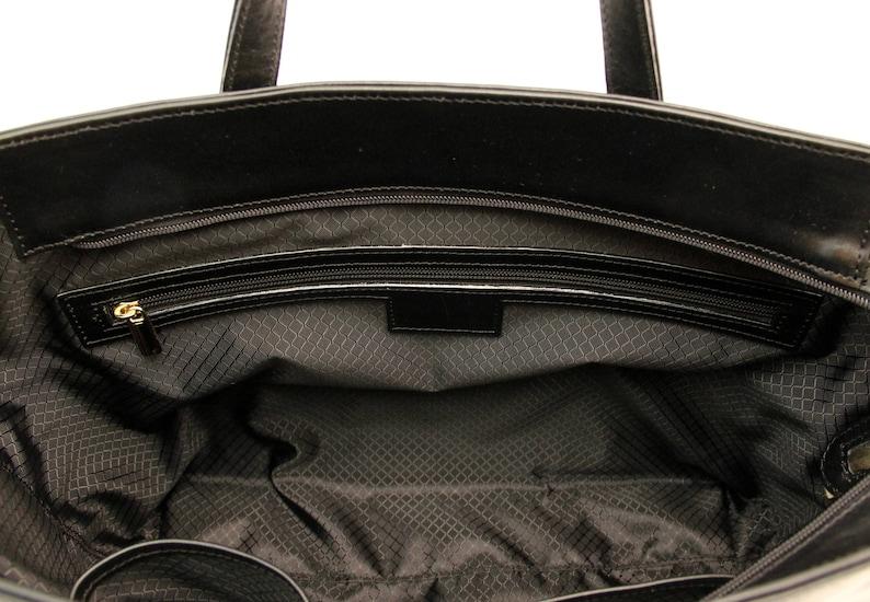 Designer Handmade Italian Genuine Leather Womens Bag Tote Handbag  Shoulder Bag Black