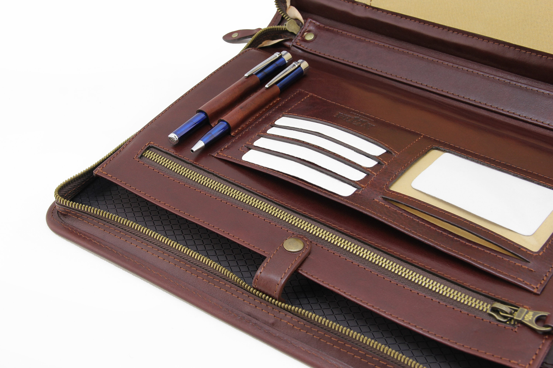 leather organizer  personalized leather portfolio men